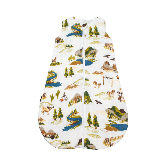Wyoming Classic Muslin Sleeper 6-12M