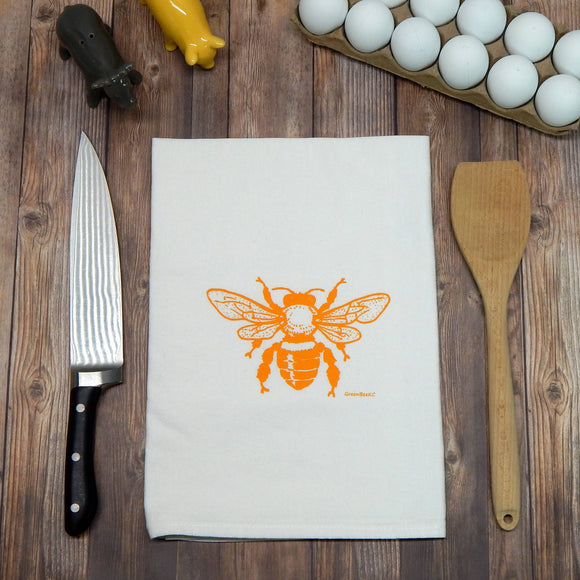 Honey Bee Flour Sack Tea Towel