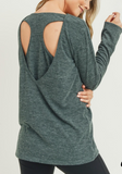 Long Sleeve Racer Back Top