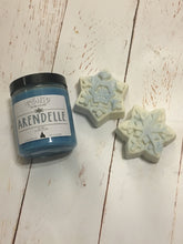 Load image into Gallery viewer, Frozen Inspired Candle & Bath Bomb Set - Arendelle Candle - Anna & Elsa Gift