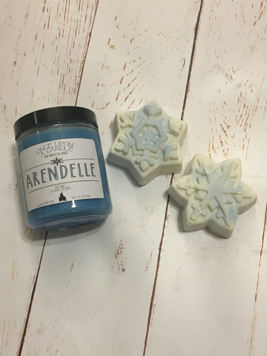 Frozen Inspired Candle & Bath Bomb Set - Arendelle Candle - Anna & Elsa Gift