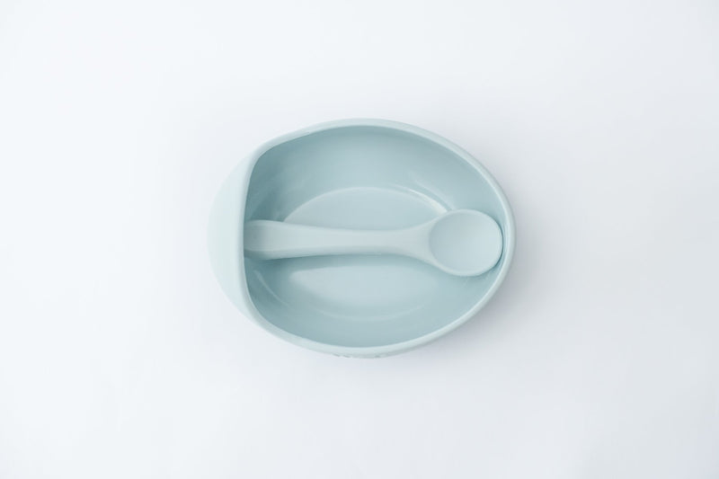 Silicone Bowl Set - Duck egg blue
