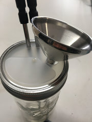 Metal tube for Mason Jar Lid