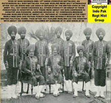 Load image into Gallery viewer, NO SIKH AWARDED VC IN WW1  DESPITE BEING HIGHEST NUMBERS IN BRITISH INDIAN ARMY INFANTRY AND THEIR NUMBERS ACTUALLY REDUCED IN INFANTRY FROM FIRST TO THIRD AFTER FIRST WORLD WAR