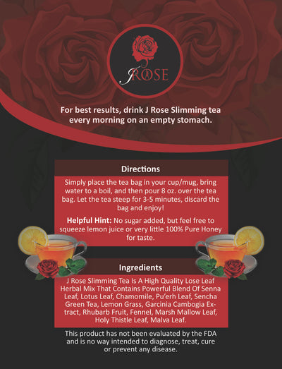 J Rose 14 Day Slimming Tea