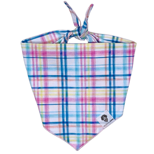 Easter spring plaid dog bandana