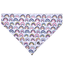 Load image into Gallery viewer, Over the rainbow colorful slip on dog bandana
