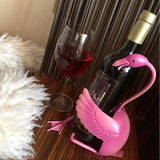 flamingo bottle holder - flamingo wine bottle holder