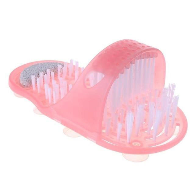 foot scrubber brush pink
