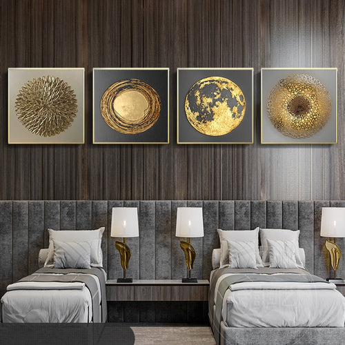 Modern Golden Black Luxury Poster