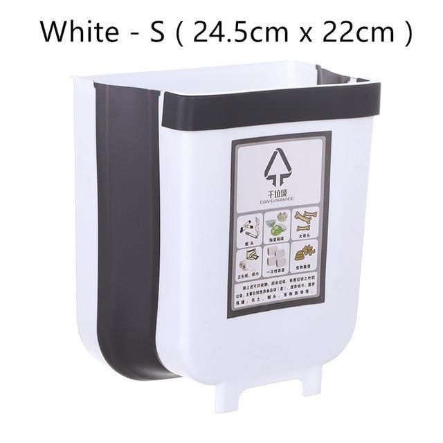 white color wall mounted waste bin