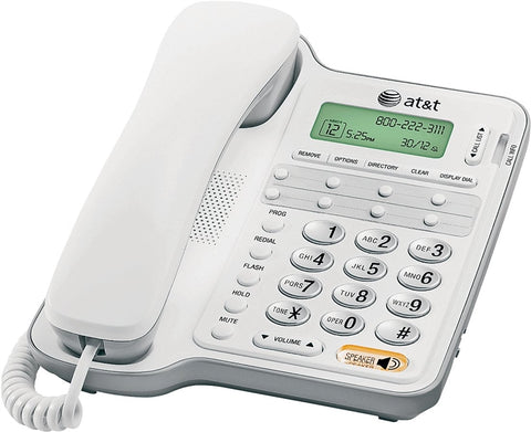 Vtech AT2909/CL2909 Corded Speakerphone, Digital Display, Gray/White