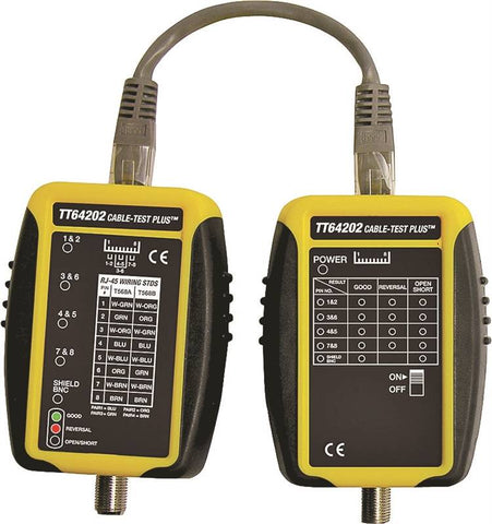 GB Cable-Test TT64202 Cable Tester, Black/Yellow