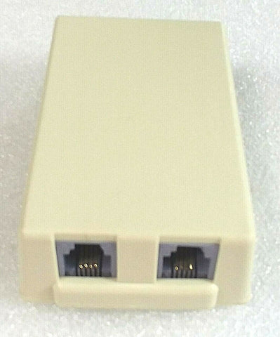 Broadband Products Ivory Dual Surface Mount Wall Jack; Part #42-642 - Confluent Technology Group
