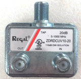 Regal 2-way High Performance Coax Splitter/ Coupler Part #ZDRDCUV10-20