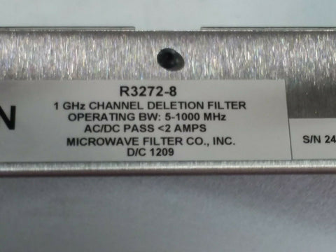 Microwave Filter Company 1 GHz Channel Deletion Filter. Part #R3272-8-01. - Confluent Technology Group