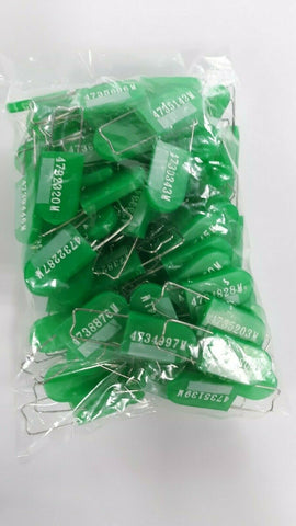 Tamper Evident Serialized security tags Light Green 100 count VTST-LG