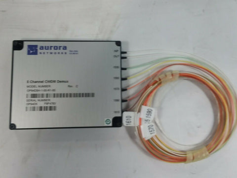 Aurora Networks 5 Channel CWDM Demux; Model #OP94D5H-1-00-R1-00