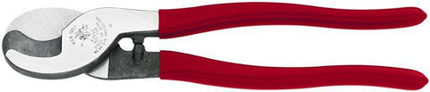 Klein Tools 63050 Cable Cutter, Steel Jaw, 9-1/2 in OAL, Red Handle - Confluent Technology Group