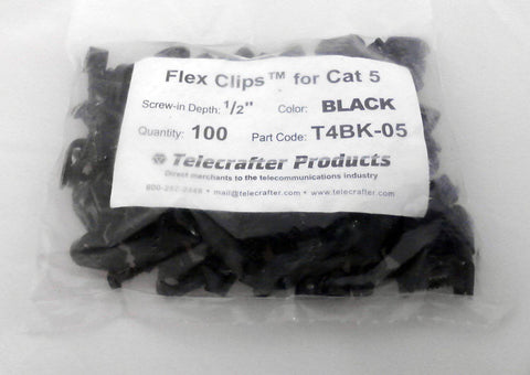 Telecrafter T4bk-05 Flex Clips for Cat5 - Confluent Technology Group