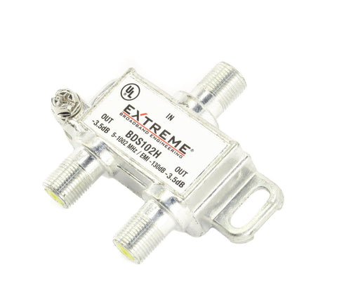 2-way Splitter 1002MHz Digital High Performance TV Coax Cable Extreme BDS102H - Confluent Technology Group