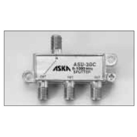 ASKA – ASU-3DC – 1000 MHz Power Passing 3-Way One Port Splitter - Confluent Technology Group