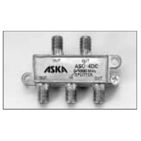 ASKA – ASU-4DC – 1000 MHz Power Passing 4-Way One Port Splitter - Confluent Technology Group