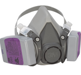 3M 62093HA1-C Valved Paint Removal Respirator, Dual Cartridge