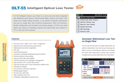 Intelligent Optical Loss Tester OLT-55AH - Confluent Technology Group