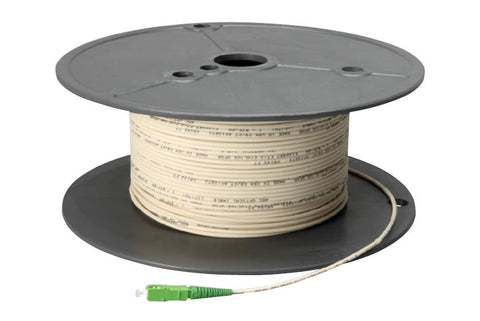 MDC-J01G-0200FL Fiber Optic Drop Cable, SC/APC to stub, RBR Plenum, Ivory, 200ft