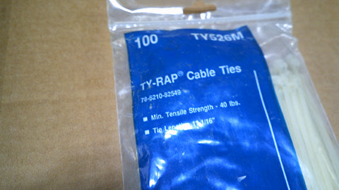 "T&B CABLE TIES TV526M  11 1/16""  100/BAG"