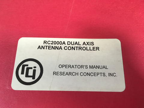 Research Concepts RC2000 Dual Axis Antenna Controller