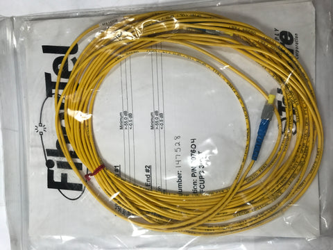 SIECOR OPTICAL CABLE 12/99 SM FIBER TB11  30ft - Confluent Technology Group