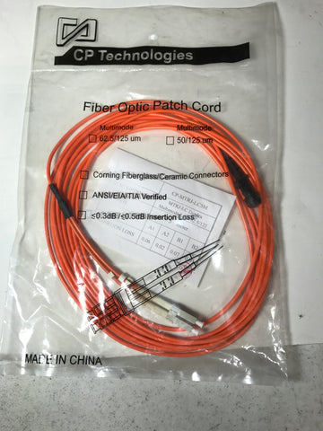 CP Technologies 10 Meter SC-SC Fiber Optic Patch Cord  SC2-10 - Confluent Technology Group