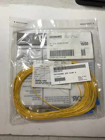 Corning fiber optic cable 1f 2.0 scupc/scupc 10m - Confluent Technology Group