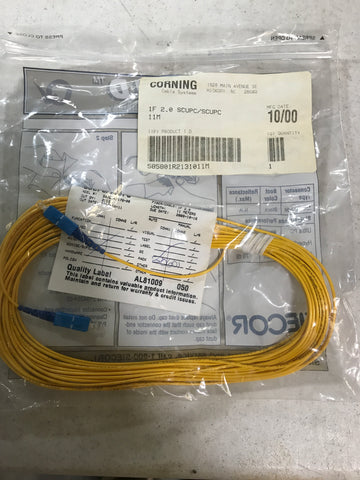 Corning fiber optic cable 1f 2.0 scupc/scucp 11m - Confluent Technology Group