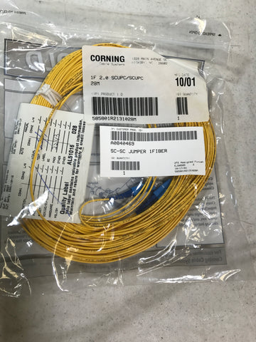 Corning fiber optic cable 1f 2.0 scupc/scucp 28m - Confluent Technology Group