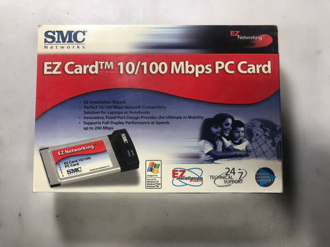 SMC Network EZ Card 10/100 Mbps PC Card (NEW IN BOX)