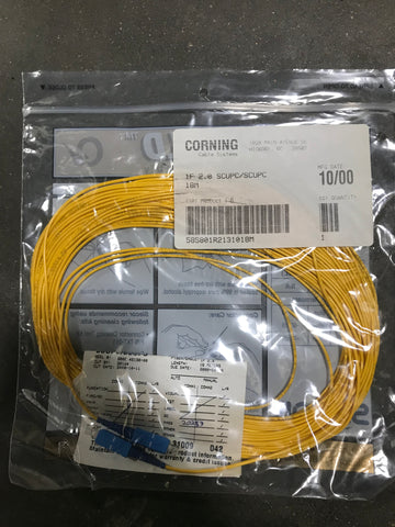 Corning fiber optic cable 1f 2.0 scupc/scupc 21m - Confluent Technology Group