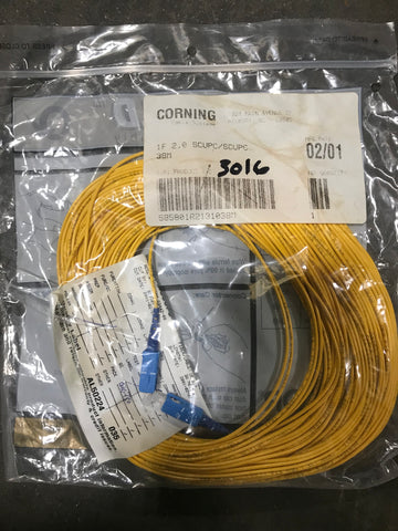 Corning fiber optic cable 1f 2.0 scupc/scupc 38m - Confluent Technology Group