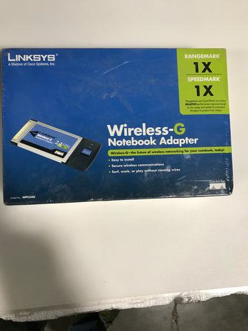 Linksys Wireless-G Notebook Adapter WPC54G - Confluent Technology Group