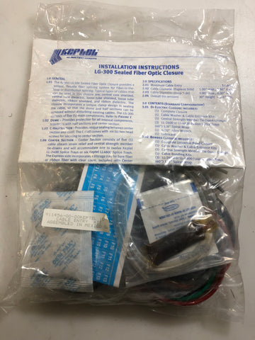 Keptel/Antec LG-300 Fiber Optic Closure Entry Kit 911456-00-00