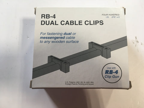 RB-4 Dual Black Cable Clips for cable gun