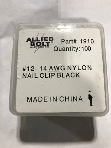 Allied Bolt 1910(#12-14AWG-NYLON-BLK) Qty: 100