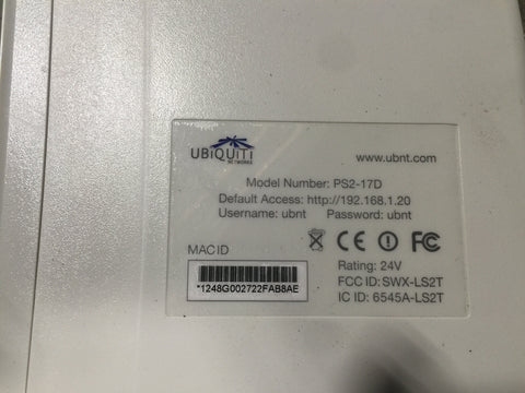 Ubiquiti Networks PS2-17D PowersStation 2 (USED)
