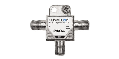 COMMSCOPE SV-DC-6G T Type 6db COAXIAL DIGITAL TAP 5-1002Mhz DIRECTIONAL COUPLER