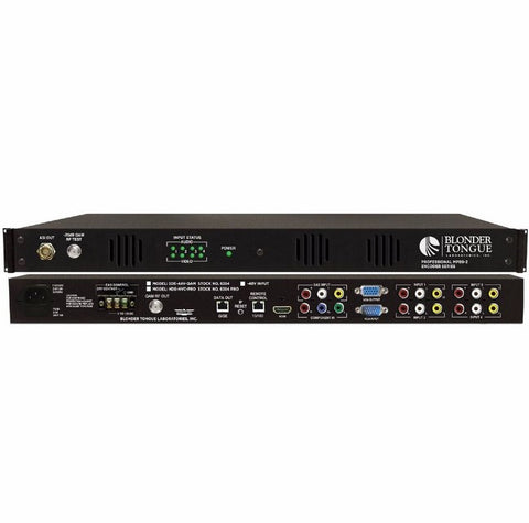 SDE-4AV-QAM MPEG 2 Standard Definition Encoder