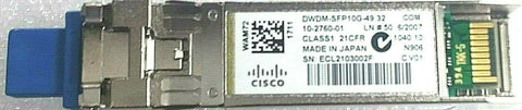Cisco 10G Base SFP Transceiver, ch. 35, 1549.32nm, 80km; Part #DWDM-SFP10G-49.32 - Confluent Technology Group