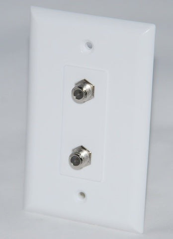 New Cable Maid WPWD81-B Dual F-81 Connectors Wall Plate (WPWD81-B)