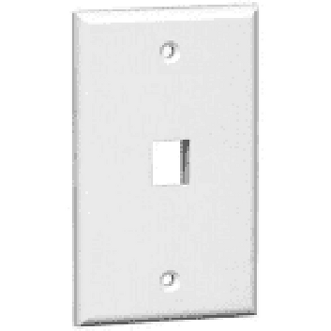 1-Port Keystone Single Gang Wall Plate XFPOP-00470 - Confluent Technology Group